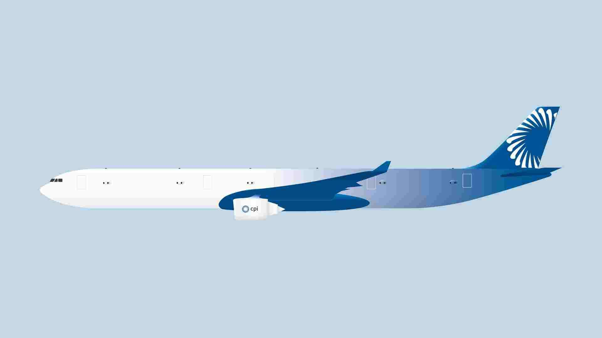 Diagram showing wide-angle panoramic camera arrays arranged along the fuselage provide uninterrupted 360 degree views.