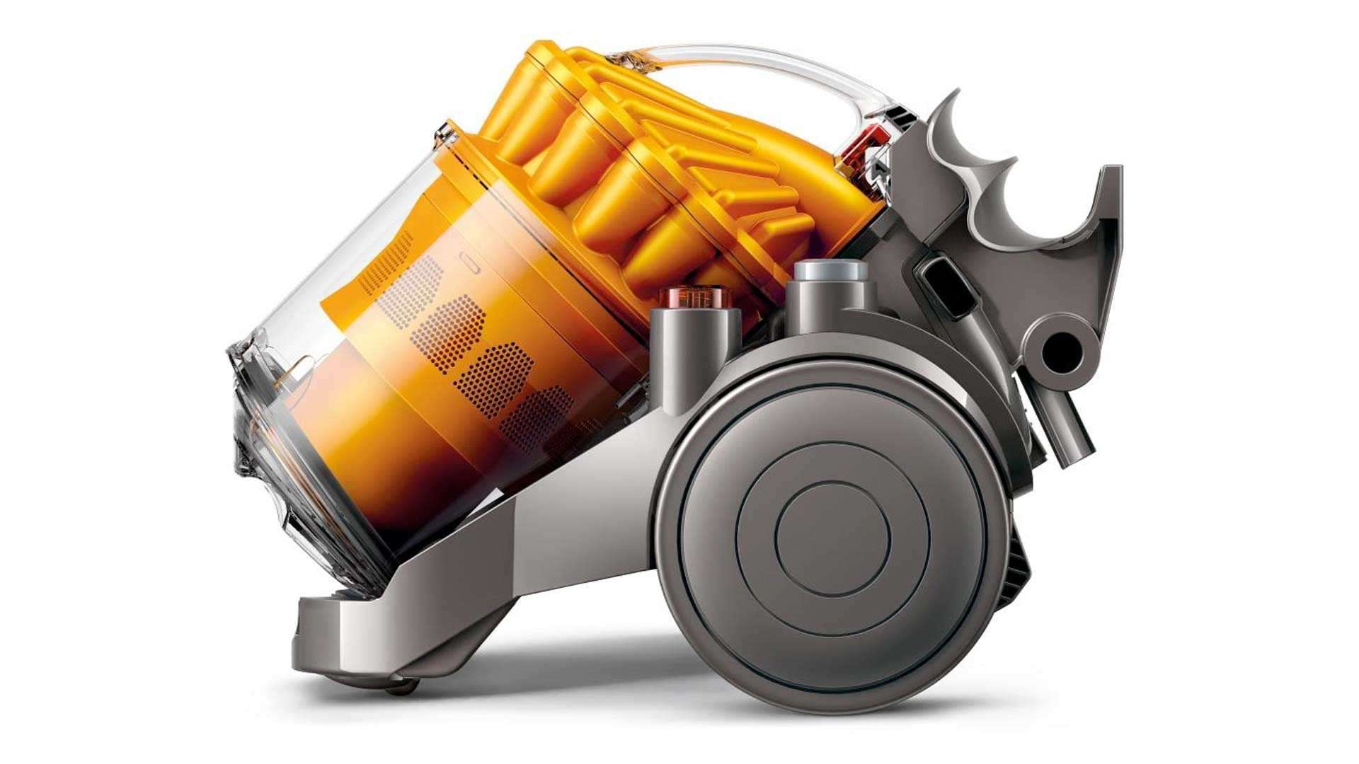 Dyson's innovative vaccuum cleaner uses industrial cyclone technology