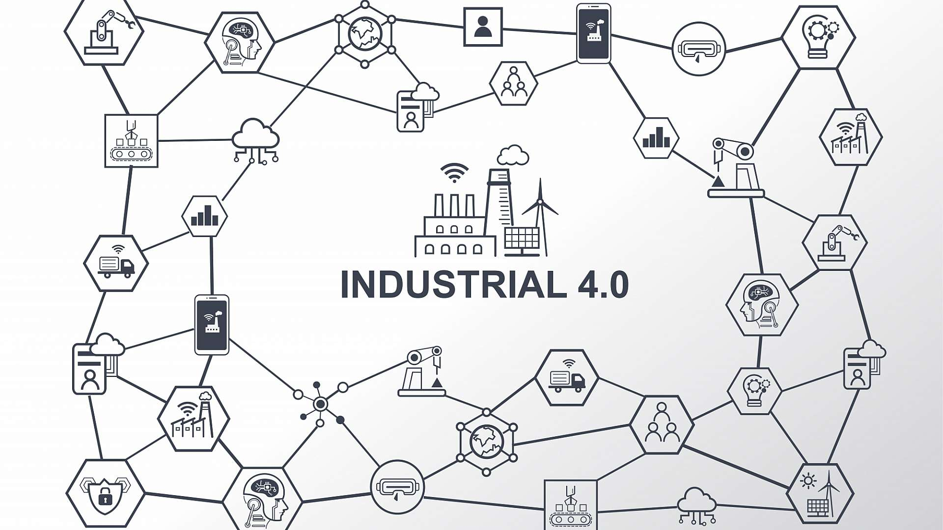 Industry 4.0 digitally connects the entire supply chain, joining product development with manufacturing workspaces, logistics and packaging
