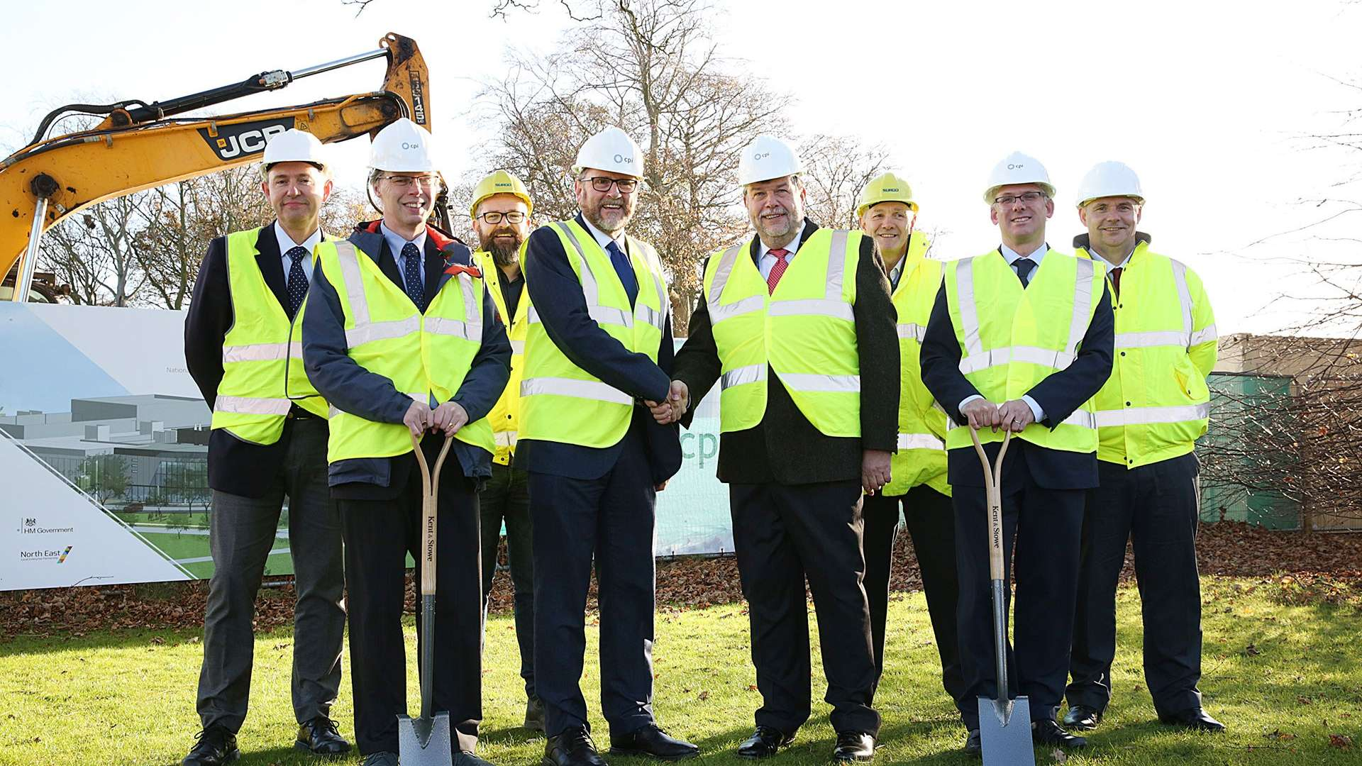Ground breaking of the National Healthcare Photonics Centre at NETPark, Sedgefield