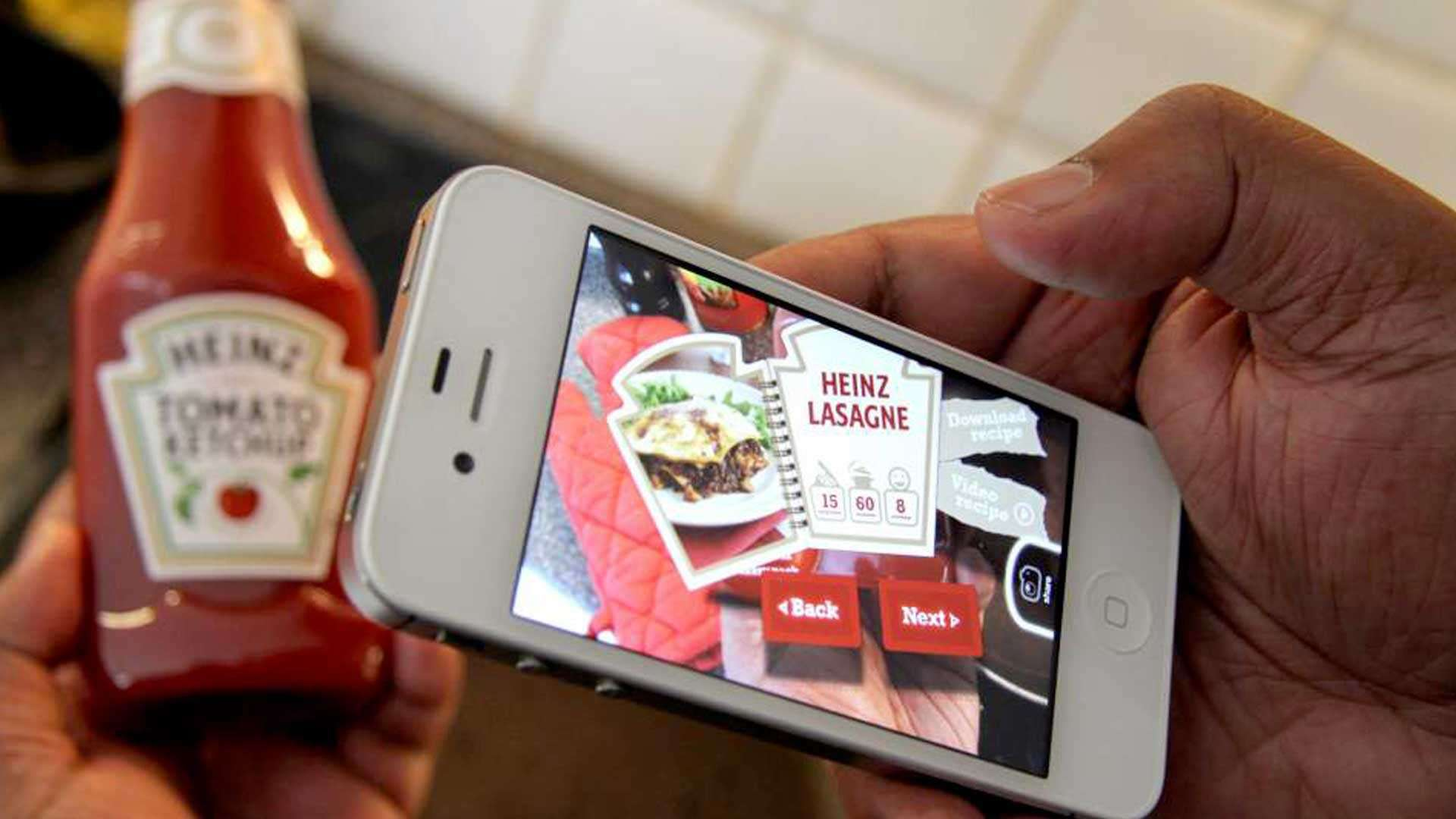 Augmented Reality is already being used in packaging to make products such as Heinz Ketchup stand out