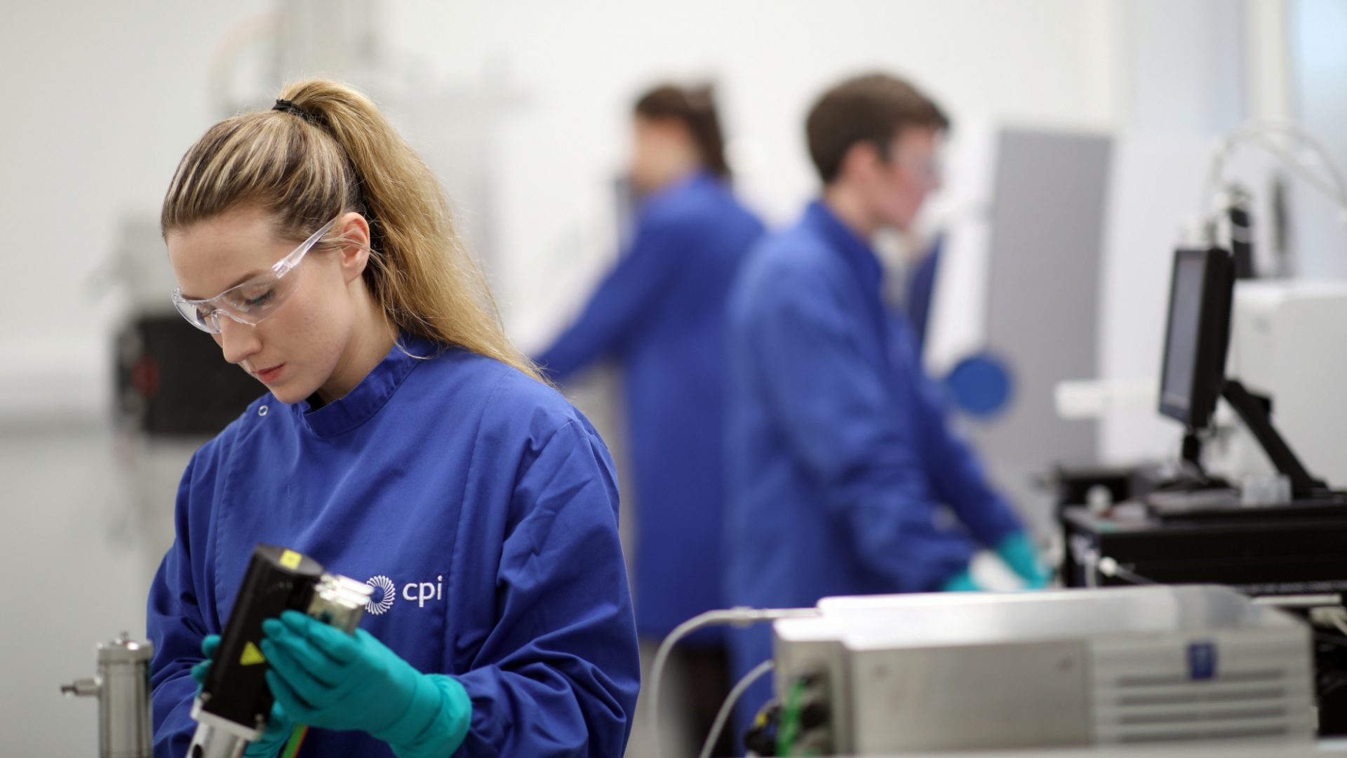 A photo of CPI staff working in a biological laboratory